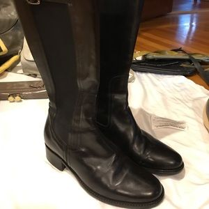 Bruno Magli black leather boots